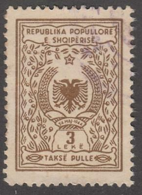 Albania Peoples Rep Takse Pulle General Revenue Barefoot #9 used 3L 1952 cv $15