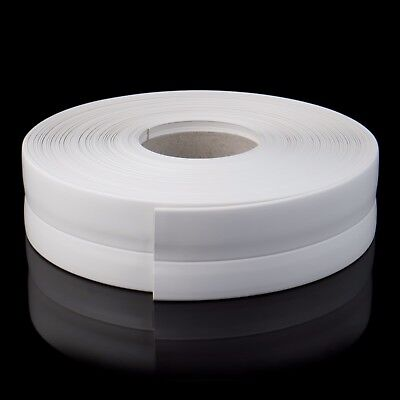 PVC WHITE FLEXIBLE SKIRTING BOARD 32mm x 23mm 5-25m multifunctional strip floor