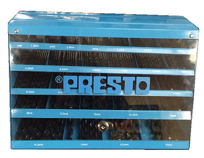 Presto UK 09540M29 Drill dispenser loaded with 425pc HSS 1-13mm drills RDGTools