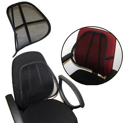 Quality Mesh Ergonomic Lumbar Seat Back Rest Support - Home Office Chair Car Van