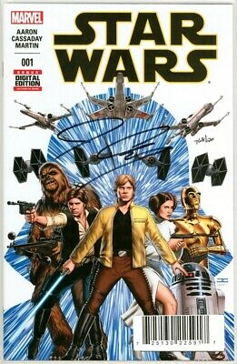 Star Wars #1 First Print Df Dynamic Forces Signed John Cassaday Coa Movie