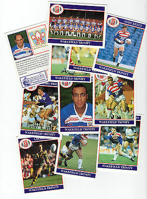 Merlin Rugby League Collection 1991 Team Set of Wakefield Trinity Cards freepost