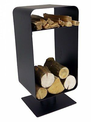 Galleon Fireplaces Nordic Fireside FIREPLACE FIRE WOOD LOG HOLDER BLACK METAL