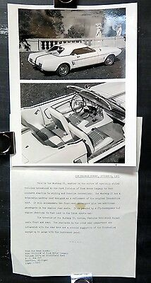 1963 1964 Ford Mustang II Concept Experimental Factory Press Kit Brochure wv4708