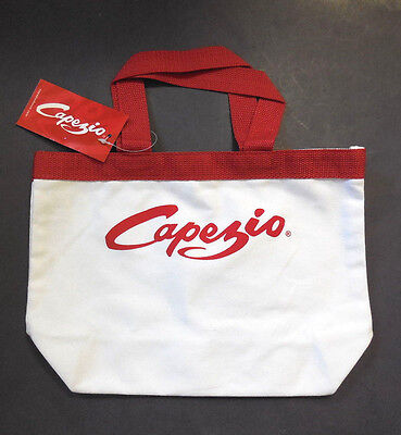 NEW w/tag Capezio MKT19 Mini Tote Bag White w/Red Trim Dance Ballet