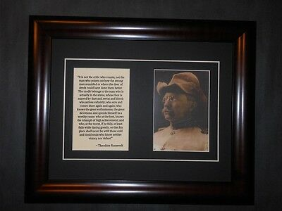 Theodore Teddy Roosevelt Rough Rider Quote Framed Entrepreneur Business Creed