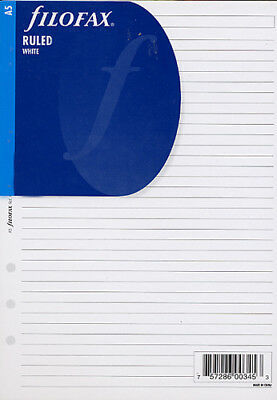 Filofax Papers Ruled Notepad, White  A5