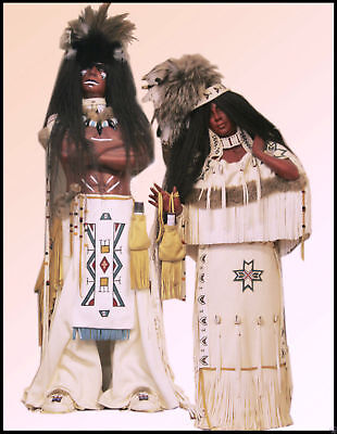Dolls Native Ameracan Dolls private Collection Was £2995.00