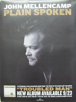 John Mellencamp 2014 Plain Spoken Promotional Poster ~New~Mint Condition~!