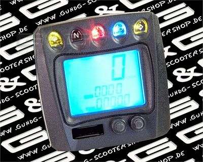 LCD Digital Speedometer Tachometer with Ce for Motorcycles Roller Quad