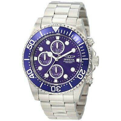 Invicta 1769 Men's Pro Diver Stainless Steel Blue Dial Chronograph Dive Watch