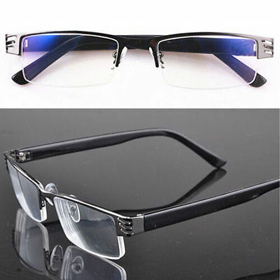 Black Metal Half Frame Design Men&Women Reading Glasses NEW