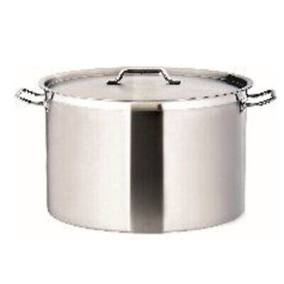 New Commercial 9L Stainless Steel Stock Pot Chef Quality Wide Saucepan