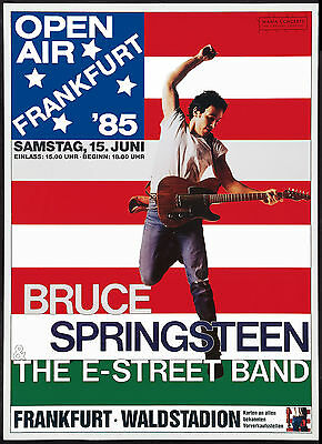 Bruce Springsteen German Tour Poster 1985 Large Format 24x36