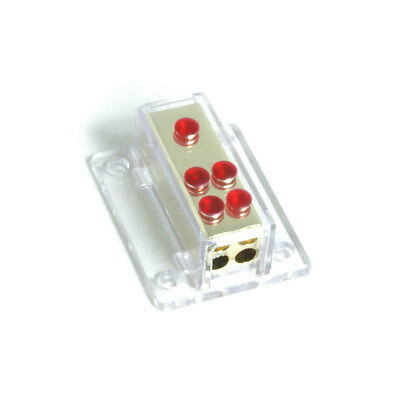 Bass Face PWD48.1 Power Distribution Block 1 x 0/4 AWG to 4 x 8 AWG