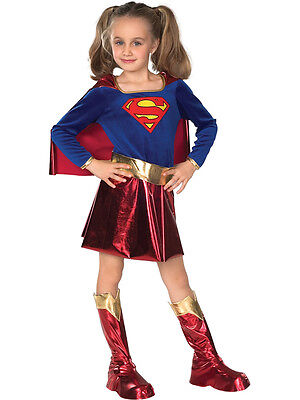 Child Licensed Supergirl Deluxe Party Outfit New Fancy Dress Costume Girls BN