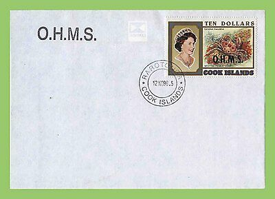 Cook Islands 1998 $10 OHMS QEII stamp on First Day Cover