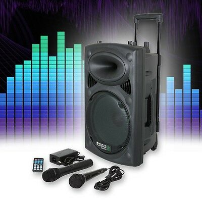 Event PA Mobil Karaoke Party Box Lautsprecher USB SD Bluetooth MP3 400W DJ REC