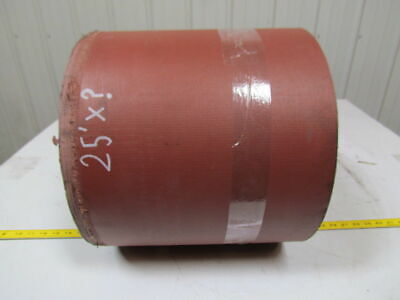 "5 ply nipple top red PVC rubber conveyor belt 25ft x 13"" 0.545"" thick"