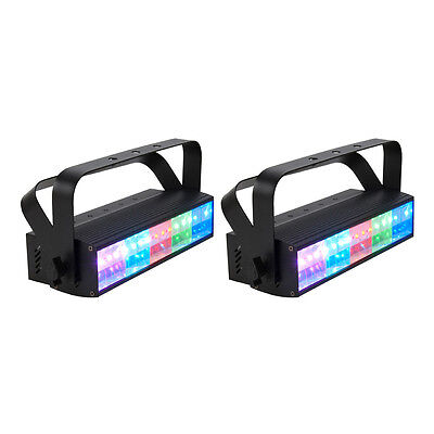 2) American DJ PIXEL PULSE BAR 5 Zone Tri Effect Light/Strobe/Wash Lights Combo