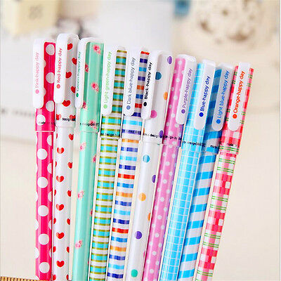 Fashionable New 10pcs/lot Colorful 0.38mm Gel Pen Cute School Stationery Prizes