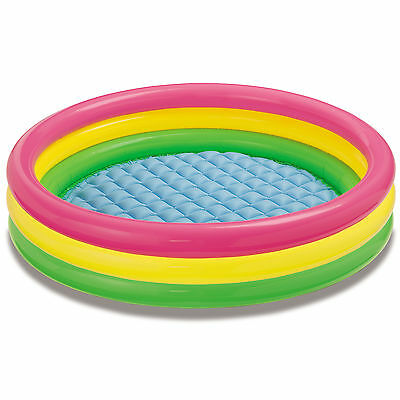 Intex Inflatable Sunset Glow Colorful Backyard Kids Play Pool | 57422EP