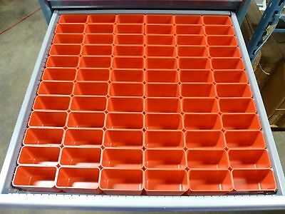 "72 2""x4""x3"" deep Plastic Boxes-Lista Vidmar Waterloo Toolbox Organizer Box Cups"