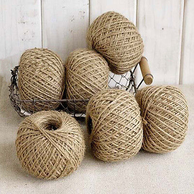 30M Jute Twine DIY Jute String Craft Shabby Style Rustic Shank Natural Brown