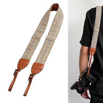 Universal Camera Shoulder Neck Strap Leather Belt For SLR DSLR Digital Canon