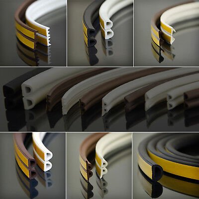 20m RUBBER SEAL window doors profile draught excluder heat loss reducer EPDM new