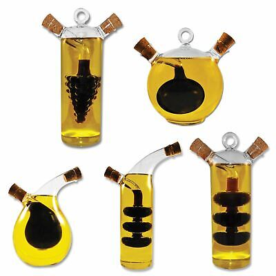 Olive Oil and Vinegar Glass Dispenser Bottles