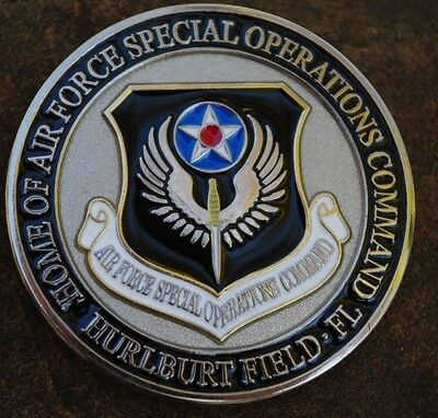 USAF Hurlburt Field Air Force FL challenge coin Special Operations Command