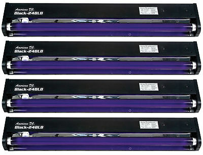 "(4) American DJ BLACK-24BLB 24"" Inch BlackLight UV Lights"