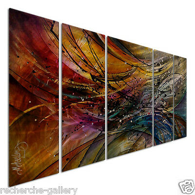 Metal Art Abstract Modern Wall Sculpture Rocky Journey by Michael Lang