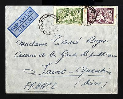 7274-INDOCHINA-AIRMAIL military COVER SAIGON to ST.QUENTIN (france)1948.French