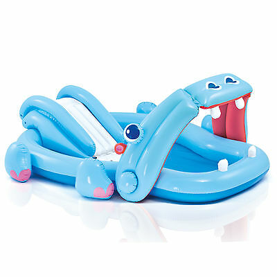 Intex Inflatable Hippo Play Center Kids Pool With Slide And Sprayer | 57150EP