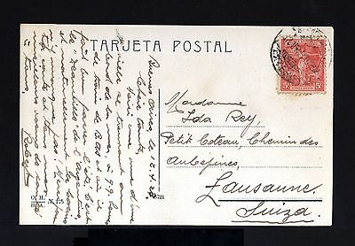7197-ARGENTINA-OLD POSTCARD BUENOS AIRES to LAUSANNE (switzerland)1923.MAR PLATA