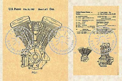 1985 US Patent for the HARLEY DAVIDSON Evolution Motorcycle Engine PM#896