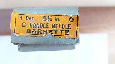 NOS Nicholson file round handle needle barrette 5 1/2 inch 0 cut