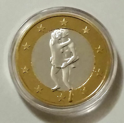 Euro Sex Souvenir Coins Sliver and Gold Plated Coin #8