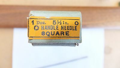 NOS Nicholson file round handle needle square 5 1/2 inch 0 cut