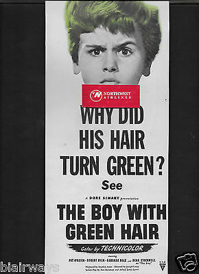 The Boy With Green Hair Starring Dean Stockwell 1948 Ad