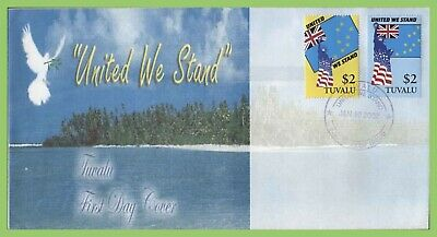Tuvalu 2002 'United We Stand' set on First Day Cover