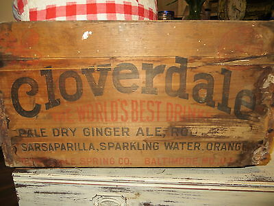 Primitive Wood Advertising Box Crate - Farmhouse Chic! Cloverdale, Bailtmore MD
