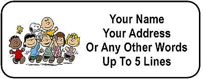 30 Peanuts Gang Personalized Address Labels
