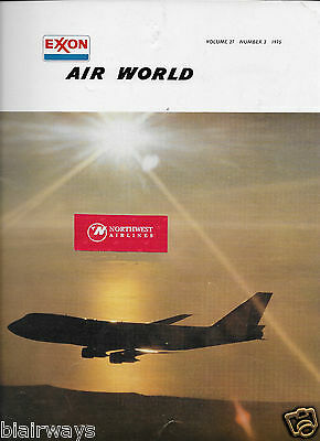 Exxon Air World 3/75 Magazine Hawaiian Airlines-Laker Airways-Boeing-London Lhr