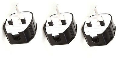 Silver Plated Mk Toughplug | Pack Of 3 Plugs | Silver Plated Fuse Fitted