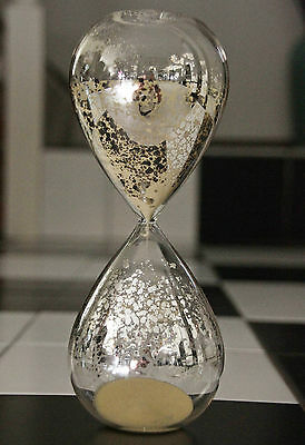 ⌛ ⌛ AWESOME MERCURY STYLE GLASS BEACH TAN SAND FANCY HOURGLASS TIMER. 30 min ⌛ ⌛