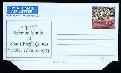 BRITISH SOLOMON ISLANDS - ISOLE SALOMONE - 1983 - AEROGRAMMA - Giochi paciSG5212