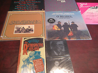 O' Blues Mfsl's Sonny & Brownie 3 Various 45 Artists Lp's + Cds + Cassette Box